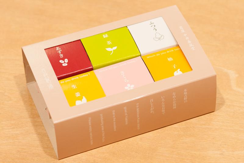画像1: 吉野葛湯 6個セット (さくら・あずき・緑茶・柚子・生姜・ふつう) (1)